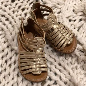 Cherokee Gladiator Gold Sandals Size 6